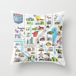 Take Time For Dallas Throw Pillow