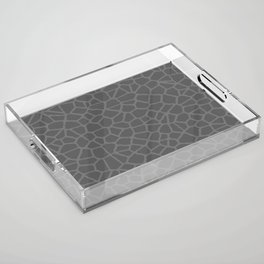 Staklo (Gray on Gray) Acrylic Tray