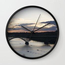 Boat House Row, Schuylkill River, PA Wall Clock