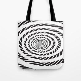 BLACK LICORICE TWIST SWIRL Abstract Art Tote Bag