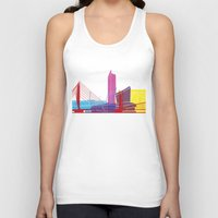 manchester Tank Tops featuring Manchester skyline pop by Paulrommer