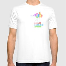 Let's dream more White MEDIUM Mens Fitted Tee