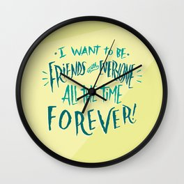 Friends With Everyone Wall Clock
