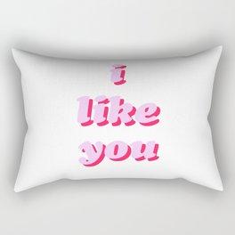 i kinda like you Rectangular Pillow