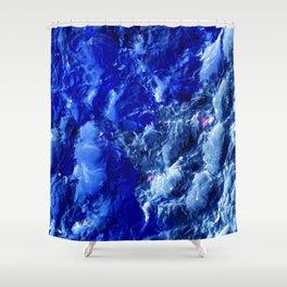 Abstración Océanica Azul Shower Curtain