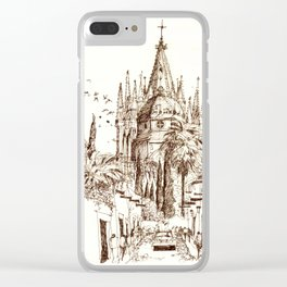 Cathedral, San Miguel de Allende Clear iPhone Case