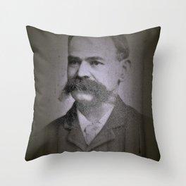 stache Throw Pillow