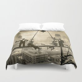 Sir, Where are your restrooms? Duvet Cover