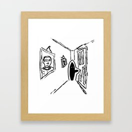 Shadow Person Framed Art Print