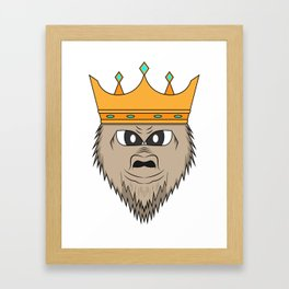 Gorilla king Framed Art Print