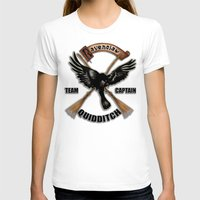 quidditch T-shirts featuring Ravenclaw team captain quidditch by JanaProject