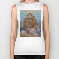 football Biker Tanks featuring Football by Michael Creese