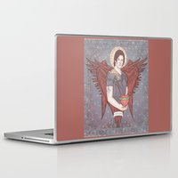 sam winchester Laptop & iPad Skins featuring Guardian Angel Sam Winchester by KARADIN