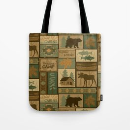 Big Bear Lodge Tote Bag