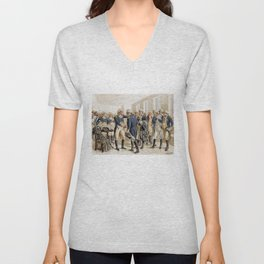 Washington's Farewell to Officers by H.A. Ogden (1893) Unisex V-Neck