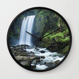 Rainforest waterfalls, Hopetoun Falls, Great Otway NP, Victoria, Australia Wall Clock