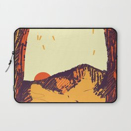Upward over the Mountain: Sunset Laptop Sleeve