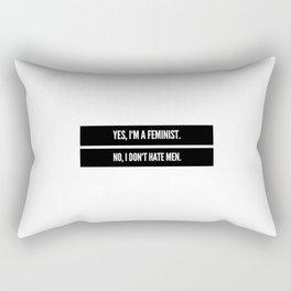 Feminist social justice warrior quote Rectangular Pillow