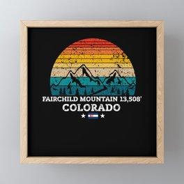 FAIRCHILD MOUNTAIN 13,508' Colorado Framed Mini Art Print
