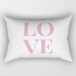 LOVE - white Rectangular Pillow