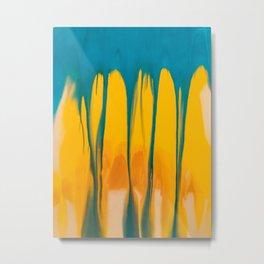 Blue and yellow watercolors. Metal Print