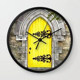 yellow door Wall Clock