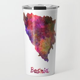 Bosnia in watercolor Travel Mug