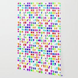 Rainbow Pixel Fashion Wallpaper