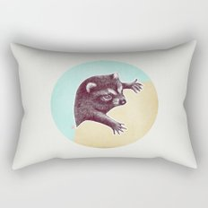 Climbing Raccoon Rectangular Pillow