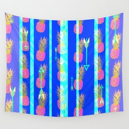 Bright Boho Pineapple Pattern Wall Tapestry