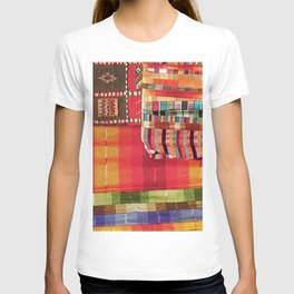 V27 Multi Colored Traditional Moroccan Lovely Textile Texture. T-shirt