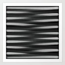 Black and White High Contrast Pattern Art Print