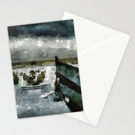 D Day Landings, WWII Stationery Cards