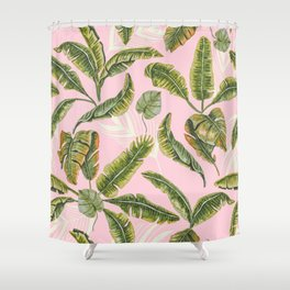 Banana leaf party Shower Curtain