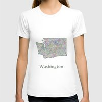 washington T-shirts featuring Washington map by David Zydd
