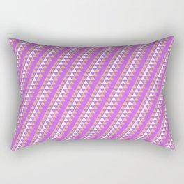 Geometrical neon pink orange triangles pattern Rectangular Pillow