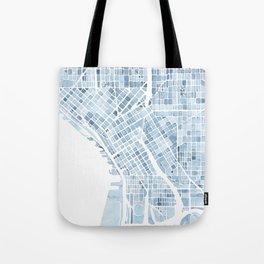 Map Seattle Washington Blueprint watercolor map Tote Bag