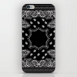 Bandana Black & White iPhone Skin