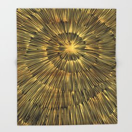 gold spiral Throw Blanket