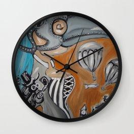 BUBONIC PLAGUE GIRL Wall Clock