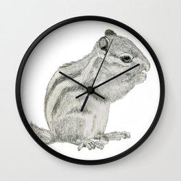 Munching Chipmunk Wall Clock
