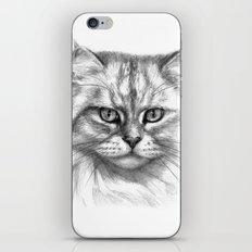 Expressive glance cat G132 iPhone & iPod Skin