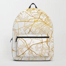 CHARLOTTE NORTH CAROLINA CITY STREET MAP ART Backpack