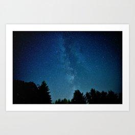 Milky Way over Brownsville Art Print
