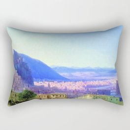View of Tiflis by by Ivan Aivazovsky Landscape Painting Rectangular Pillow
