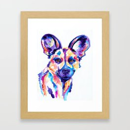 African Wild Dog, Painted Hunting Dog Framed Art Print