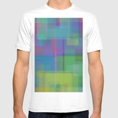 Squares#2 MEDIUM Mens Fitted Tee White