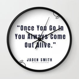 37   |  Jaden Smith Quotes | 190904 Wall Clock