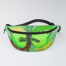 Neon Green Butterfly Fanny Pack