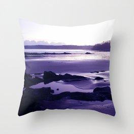 Blue Beach Bay Throw Pillow